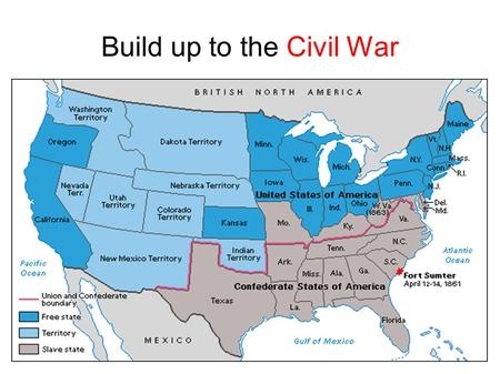 Build up to the Civil War. Missouri wants to be a state... 1817 Missouri applies for statehood with 2,000- 3,000 slaves present at that time Missouri.