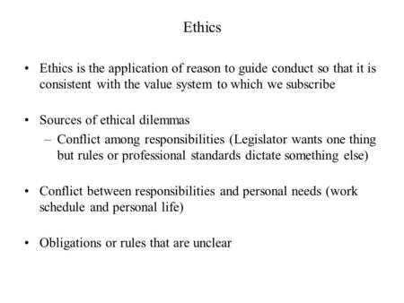 army standards and ethical dilemmas essay Free essay: morals, values, and ethics morals, values and ethics define who we are and what we believe  fabric of any society is held together by the standards of .