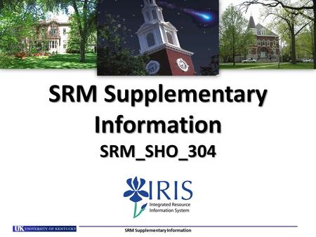SRM Supplementary Information SRM_SHO_304 SRM Supplementary Information.