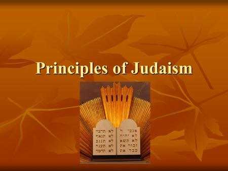 Principles of Judaism. I. A Migrating People I. A Migrating People A. About 2000 B.C. Abraham & family migrated & founded Israelite nation near E. Mediterranean.