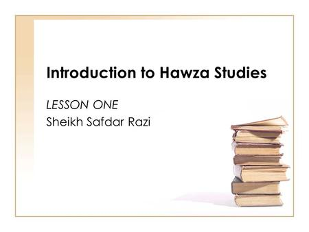 Introduction to Hawza Studies