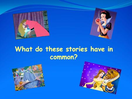 You are going to write the summary of a famous fairy tale thanks to its pictures.