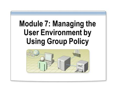 Module 7: Managing the User Environment by Using Group Policy.