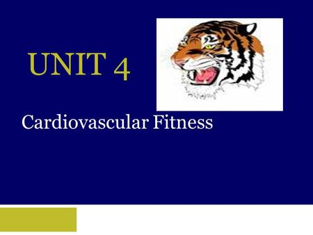 UNIT 4 Cardiovascular Fitness. Objectives  Learn how to measure your pulse rate as well as the rate at which your heart should be exercised.  Understand.