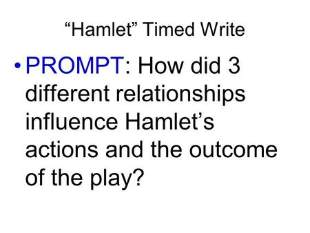 hamlet s downfall In williams shakespeare's' tragic play, hamlet, the main character hamlet appears to be a noble prince, who is thoughtful and a devout christian his grace, wit, and strength have won him a good reputation among his people however, throughout the whole play, hamlet dwells on.