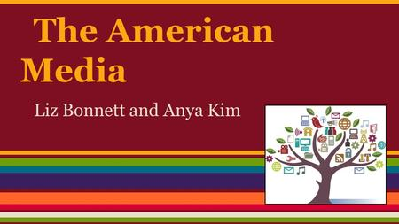 The American Media Liz Bonnett and Anya Kim. Two Way Relationship Politicians and Media o Politicians take advantage o Not an exact mirrorof politics-editing,