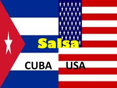 Salsa CUBAUSA. Salsa Salsa dance Salsa is a paired dance (man and woman) The basic position is an embrace. They do not stand as close as in the Waltz.