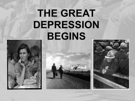 THE GREAT DEPRESSION BEGINS. FARMERS STRUGGLE During World War I European demand for American crops soared After the war demand for American crops plummeted.
