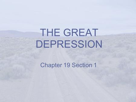The Great (Farm) Depression of the 1920s