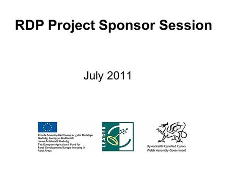 RDP Project Sponsor Session July 2011. Session Content Publicity Requirements & Guidelines Monitoring Procedures Evaluation.