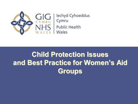 Child Protection Issues and Best Practice for Women's Aid Groups.