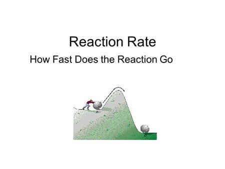 Reaction Rate How Fast Does the Reaction Go Collision Theory Chemists believe that all chemical change (rearrangement of matter) occurs due to the collision.