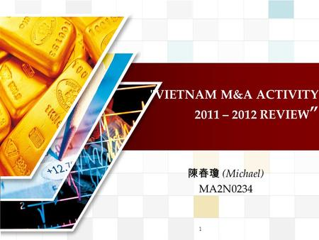 "VIETNAM M&A ACTIVITY 2011 – 2012 REVIEW "" 陳春瓊 (Michael) MA2N0234 1."