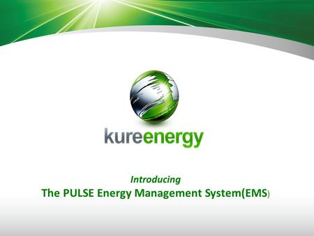 Introducing The PULSE Energy Management System(EMS )