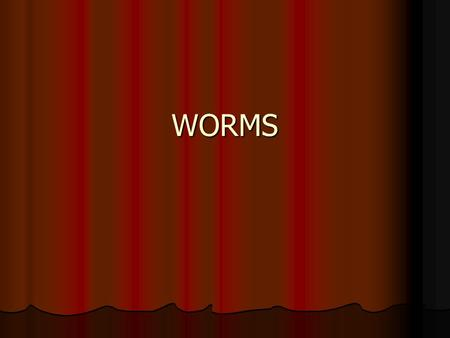 WORMS. WORMS Over 20,000 wormlike organisms Over 20,000 wormlike organisms Classified into 6-8 different phylum Classified into 6-8 different phylum All.