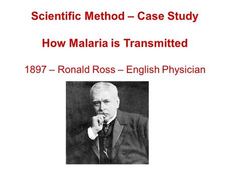 Scientific method case study
