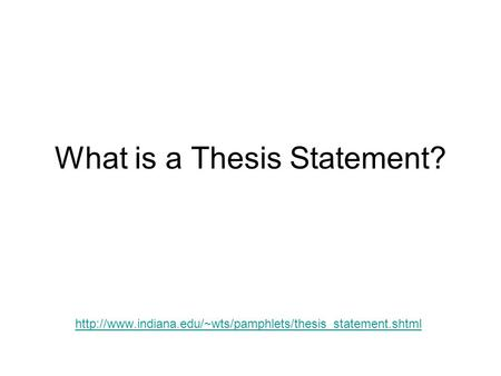 whats thesis