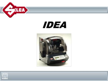 IDEAIDEA. With Idea key cutting machine Silca inaugurates a new style of duplication for code cutting and copying bit, double bit, pump and shoulder stop.