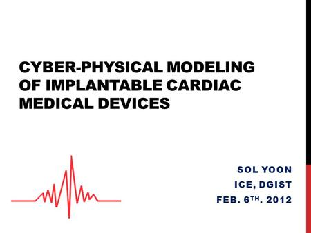 Cyber-physical modeling of implantable cardiac medical devices