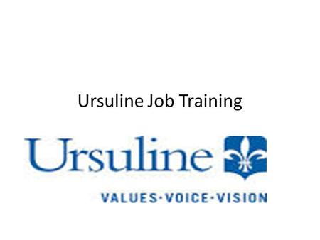 Ursuline Job Training. Pilla Metz Café and Kitchen Culinary prep Recycling.