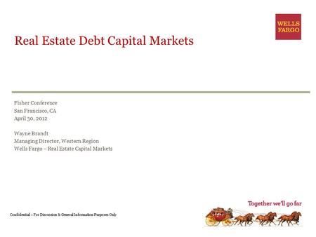 Real Estate Debt Capital Markets