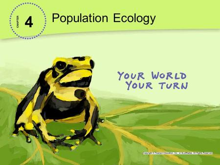 4 Population Ecology CHAPTER. Levels of Ecological Organization Everything on Earth is connected, so how do ecologists study anything? Ecology is the.