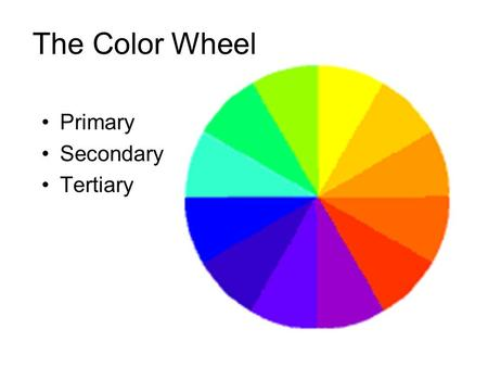 The Color Wheel Primary Secondary Tertiary.