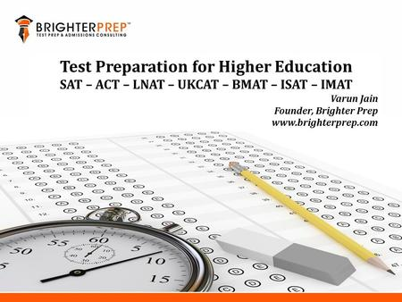 Test Preparation for Higher Education
