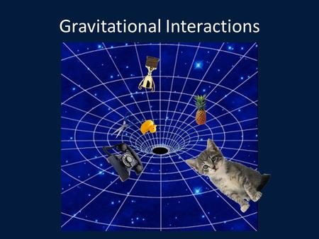 Gravitational Interactions. Newton Again Sir Isaac Newton did not discover gravity. – He discovered that gravity is universal – All matter attracts all.