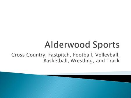 Cross Country, Fastpitch, Football, Volleyball, Basketball, Wrestling, and Track.
