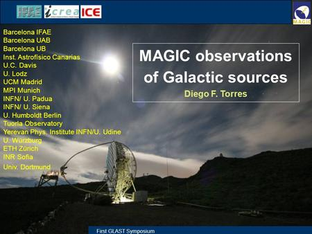 MAGIC observations of Galactic sources