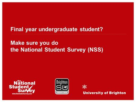 Final year undergraduate student? Make sure you do the National Student Survey (NSS)