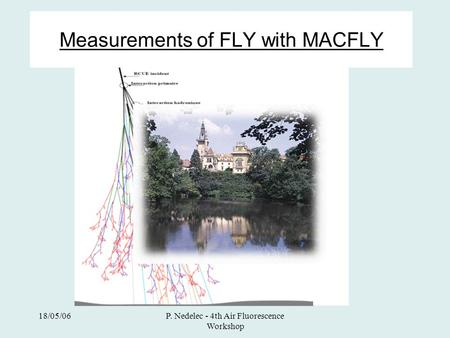 18/05/06P. Nedelec - 4th Air Fluorescence Workshop Measurements of FLY with MACFLY.