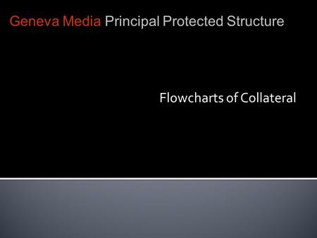 Flowcharts of Collateral Geneva Media Principal Protected Structure.