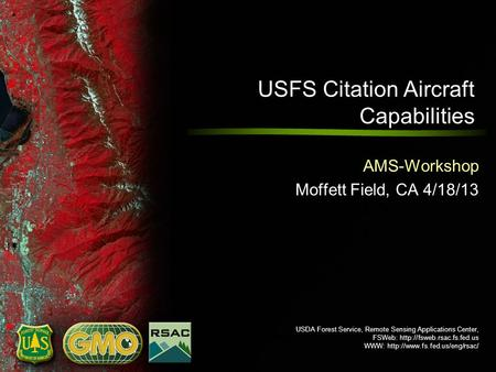USDA Forest Service, Remote Sensing Applications Center, FSWeb:  WWW:  USFS Citation Aircraft.