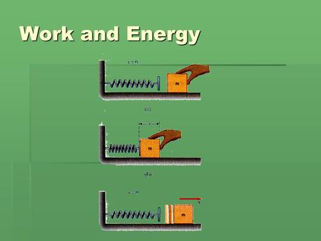 Work and Energy. Vocabulary  Work: The use of force to move an object over a distance (Joule or J)  Joule: The unit used to measure work; one joule.