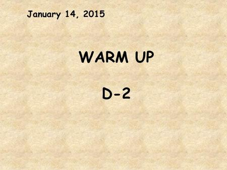 January 14, 2015 WARM UP D-2. Learning Targets 1. I can make inferences to deepen understanding of Inside Out & Back Again Inference = Details + Background.