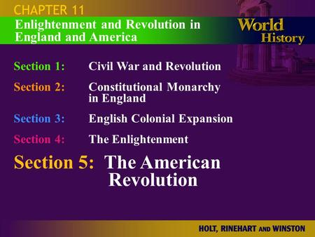 Section 5: The American Revolution