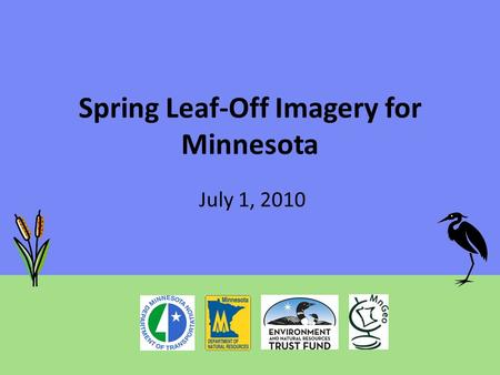 Spring Leaf-Off Imagery for Minnesota July 1, 2010.