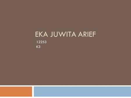 EKA JUWITA ARIEF 12253 K3. Internet-Based Project Work.