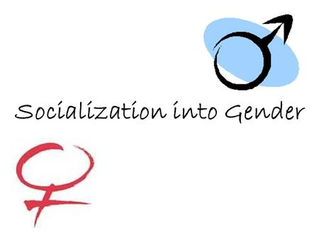 Socialization into Gender. Gender Socialization Difference between sex and gender Are we born having a gender? Simone de Beauvoir—one is not born, but.