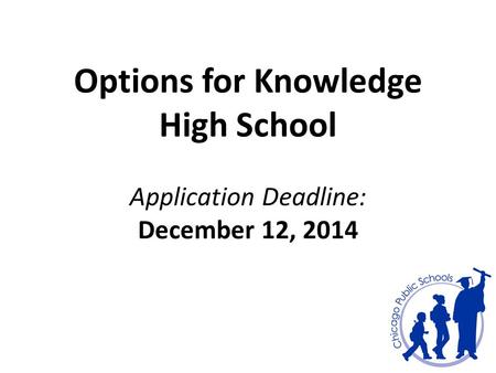 School options online application