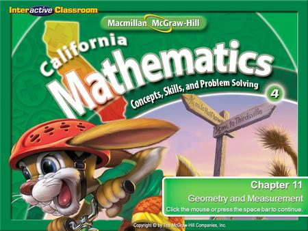 Chapter 11 Geometry and Measurement