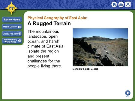 Physical Geography of East Asia: