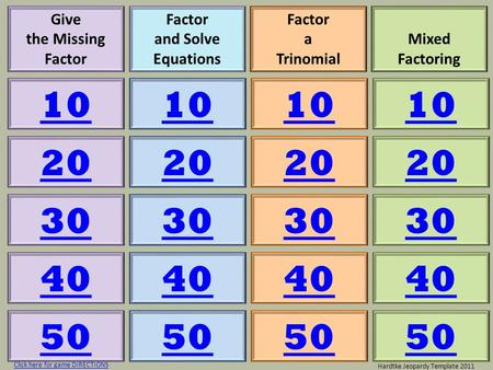 Give the Missing Factor Factor and Solve Equations Factor a Trinomial