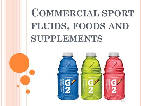C OMMERCIAL SPORT FLUIDS, FOODS AND SUPPLEMENTS. K NOW W ONDER L EARN What do we know about sport supplements? What do we wonder about sport supplements?