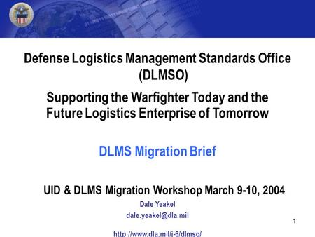 defense logistics management system