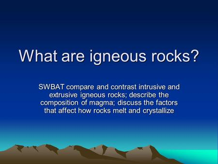 compare and contrast essay on rocks and minerals These compare and contrast essay topics provide teachers and students with great and fun ideas for home and class work.