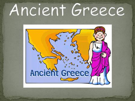 Greece was a civilization that existed about 2,500 years ago. Ancient Greece gave us many ideas in architecture, government, and the Olympics.