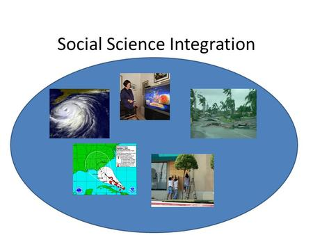 Social Science Integration. Hurricane Forecasts as an Element of Generalized Risk Management System Public Emergency Planners Forecast Products Public.